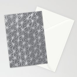 Japanese Tie Dye in Pebble Stationery Cards