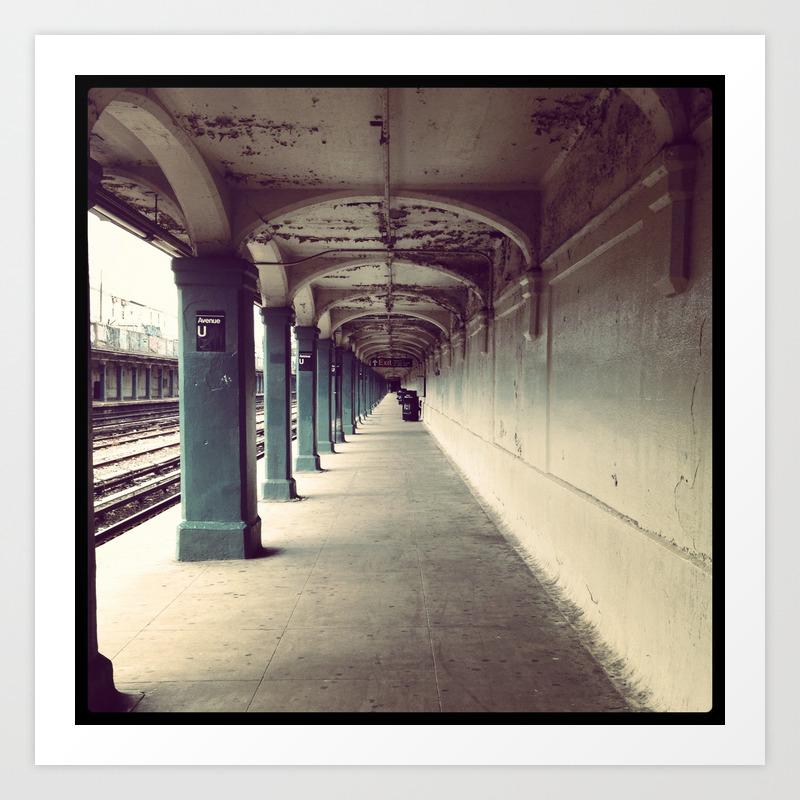 Avenue U Train Station In Brooklyn Art Print By Christinabrodzky