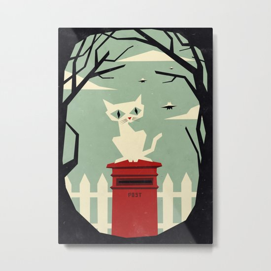 Let's meet at the red post box Metal Print