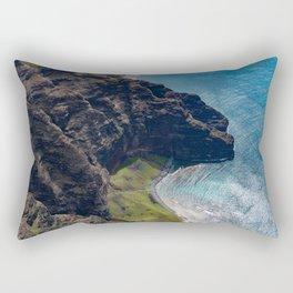 Kauai Seaside Cliff Rectangular Pillow