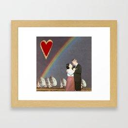 satelitte love Framed Art Print
