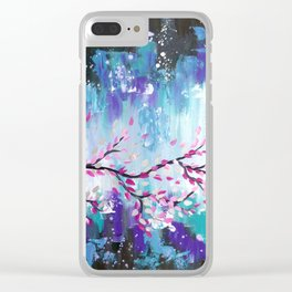 Storm Clouds and Japanese Cherry Blossom Branch Clear iPhone Case