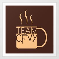 roosterteeth Art Prints featuring Team CFVY by Eamonn