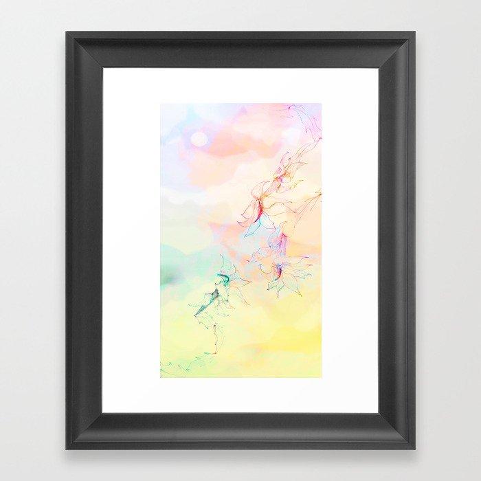 cactus and sky Framed Art Print