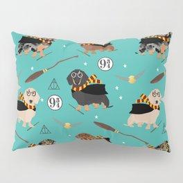 dachshund witch wizard magic wiener dog gifts Pillow Sham