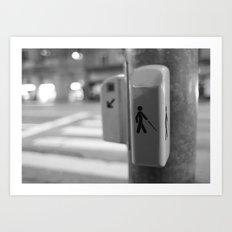 Paris crossing Art Print