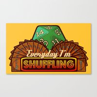 magic the gathering Canvas Prints featuring Everyday I'm Shuffling  |  Magic The Gathering by Silvio Ledbetter