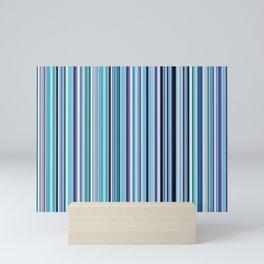 Old Skool Stripes - Sea Foam Mini Art Print