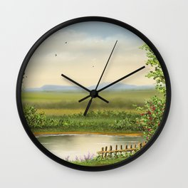 At Lake Wall Clock