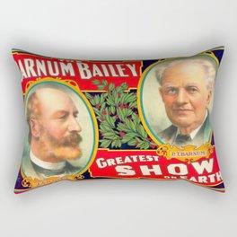 Illustrated Circus Poster Rectangular Pillow