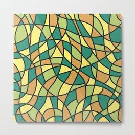Curved Mosaic 01 Metal Print