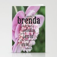 scripture Stationery Cards featuring Brenda scripture by KimberosePhotography