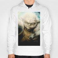 yoda Hoodies featuring Yoda by Colunga-Art
