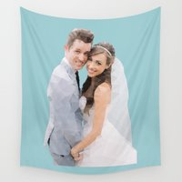 wedding Wall Tapestries featuring Joshleen Wedding by AmStar