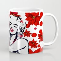 marilyn Mugs featuring Marilyn by Saundra Myles