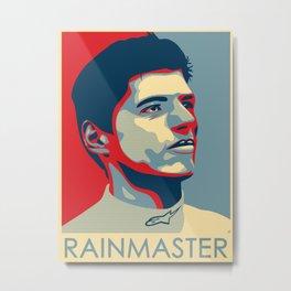 Max Verstappen, rainmaster Metal Print
