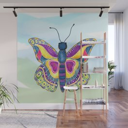 Butterfly III on a Summer Day Wall Mural
