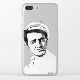 Woody Guthrie Clear iPhone Case