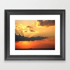 Winter sunset Framed Art Print