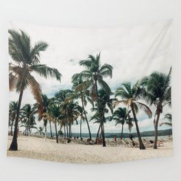 Palms on the Beach Wall Tapestry