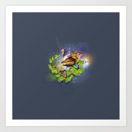 Even the sparrow Art Print
