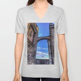 Edinburgh Castle Scotland Unisex V-Neck