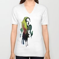 haim V-neck T-shirts featuring Little acrylic HAIM by MGNFQ