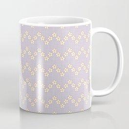 Chevron flowers - Orchid Hush Coffee Mug