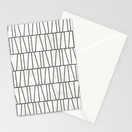 Mid-Century Modern Pattern No.6 - White Concrete Stationery Cards