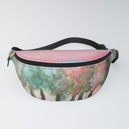 light through the trees in pink Fanny Pack