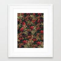 flower pattern Framed Art Prints featuring Flower Pattern by ricardogarcia