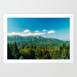 Carpathian Mountains Landscape, Summer Landscape, Transylvania Mountains, Travel In Romania Art Print