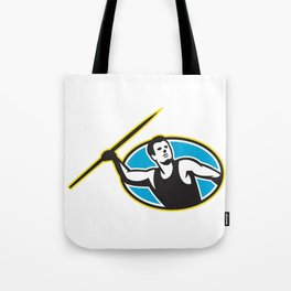 Javelin Throw Track and Field Athlete Tote Bag