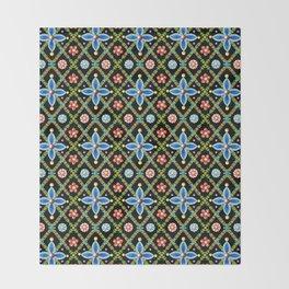 Millefiori Heraldic Lattice Throw Blanket
