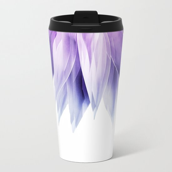 Agave geo fringe - amethyst Metal Travel Mug