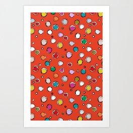 wilderdot cadmium Art Print
