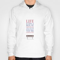 forrest gump Hoodies featuring Lab No. 4 - Forrest Gump Movies Inspirational Quotes Poster by Lab No. 4