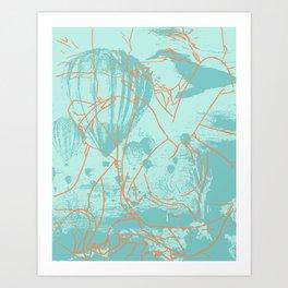 Pacific Ocean Trails Art Print