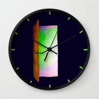 door Wall Clocks featuring Door by Brontosaurus
