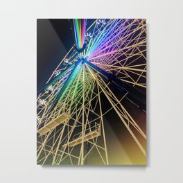 Fairy Light Ferris Metal Print