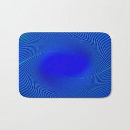 Electric Blue Swirl Bath Mat
