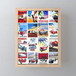 Monaco Grand Prix 1930 1966 Framed Mini Art Print