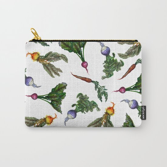 Watercolor Veggies Carry-All Pouch