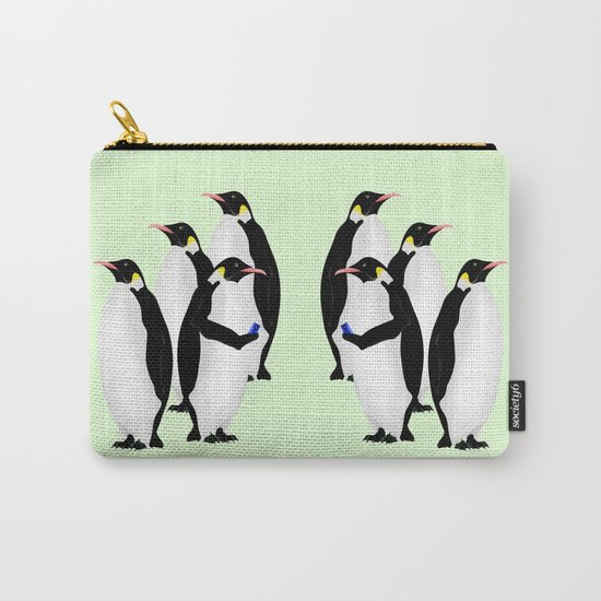 Penguin On A Mobile Device Carry-All Pouch