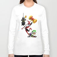 harley Long Sleeve T-shirts featuring Harley Quinn by Eileen Marie Art