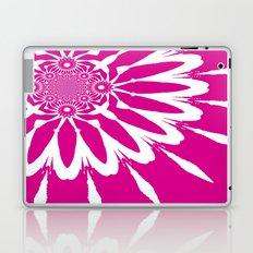 Magenta & White Modern Flower Laptop & iPad Skin