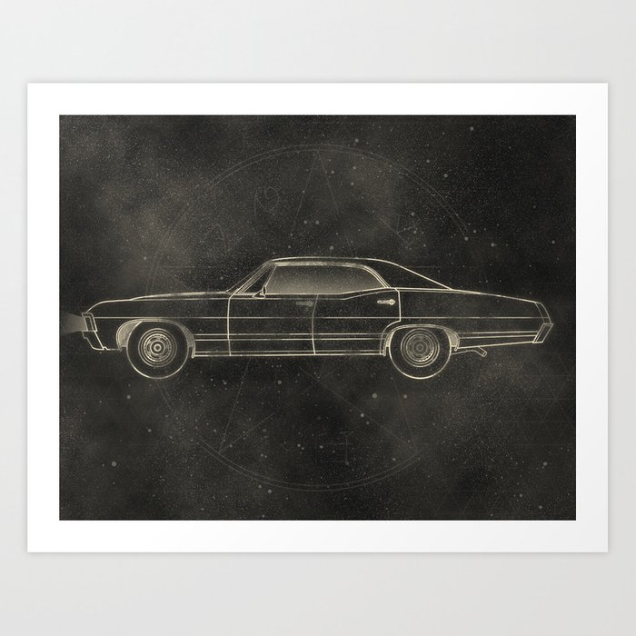 Supernatural: Impala Art Print