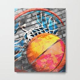 Basketball art swoosh vs 20 Metal Print