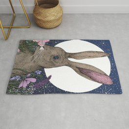 The Hare and the Moon  Rug