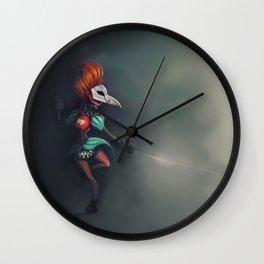 Bird of ill omen Wall Clock
